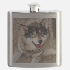 Cute Gray wolf Flask