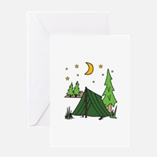 Tent Camping Greeting Cards