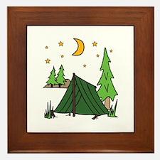 Tent Camping Framed Tile