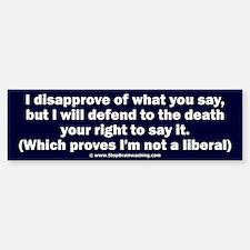 Free speech Bumper Bumper Sticker