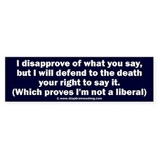 Free speech Bumper Sticker