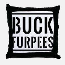 Buck Furpees Throw Pillow