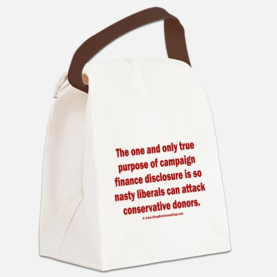 Disclosure Canvas Lunch Bag