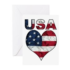 USA Heart-Americana Greeting Cards (Pk of 10)