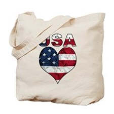 USA Heart-Americana Tote Bag