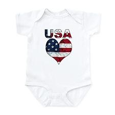 USA Heart-Americana Infant Bodysuit