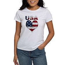 USA Heart-Americana Tee