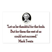Mark Twain Fools Postcards (Package of 8)