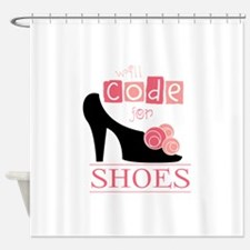 funny will code for Shower Curtain