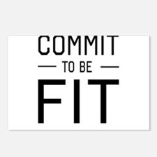 Commit to be fit Postcards (Package of 8)