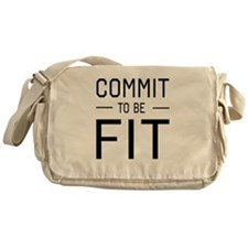 Commit to be fit Messenger Bag