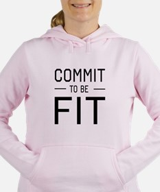 Commit to be fit Women's Hooded Sweatshirt