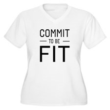 Commit to be fit Plus Size T-Shirt