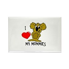 I Love My Mummies Koala Rectangle Magnet