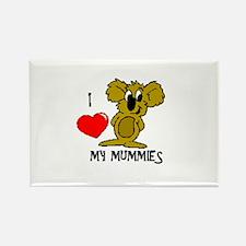 I Love My Mummies Koala Rectangle Magnet