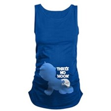 That's No Moon - BLUE Maternity Tank Top