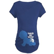 That's No Moon - Blue Maternity T-Shirt