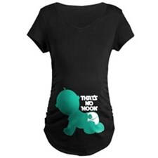 That's No Moon - GREEN Maternity T-Shirt