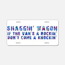 Shaggin' Wagon Circles Aluminum License Plate