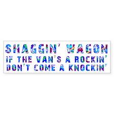 Shaggin' Wagon Circles Bumper Bumper Bumper Sticker