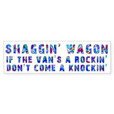 Shaggin' Wagon Circles Bumper Bumper Sticker