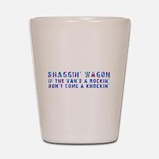 Shaggin' Wagon Circles Shot Glass