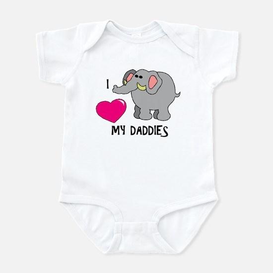 I Love My Daddies Elephant Infant Bodysuit