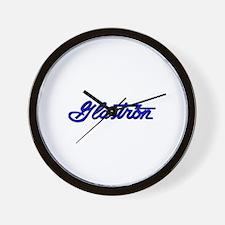 Classic Glastron Script Logo Wall Clock