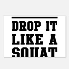 Drop it like a squat 2 Postcards (Package of 8)