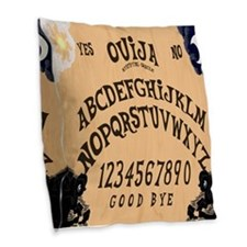 Ouija Board Burlap Throw Pillow