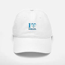 I Love Israel - Flag with Magen David Baseball Baseball Baseball Cap