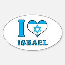 I Love Israel - Flag with Magen David Decal