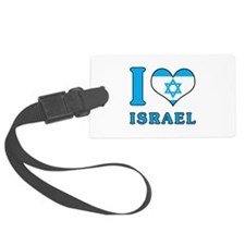I Love Israel - Flag with Magen David Luggage Tag
