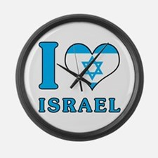 I Love Israel - Flag with Magen David Large Wall C