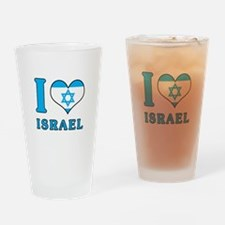 I Love Israel - Flag with Magen David Drinking Gla