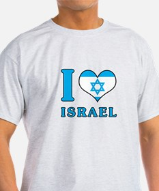 I Love Israel - Flag with Magen David T-Shirt