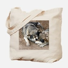 Cute Gray wolves Tote Bag