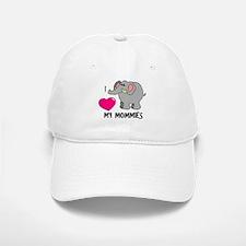 I Love My Mommies Elephant Baseball Baseball Cap