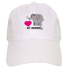 I Love My Mommies Elephant Baseball Cap