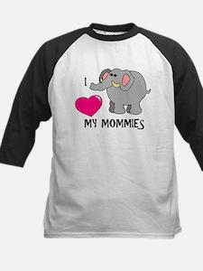 I Love My Mommies Elephant Tee