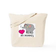 I Love My Mummies Elephant Tote Bag