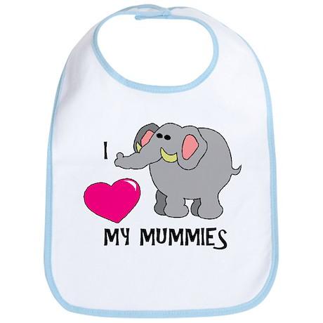 I Love My Mummies Elephant Bib