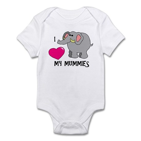 I Love My Mummies Elephant Infant Bodysuit