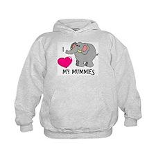 I Love My Mummies Elephant Hoodie
