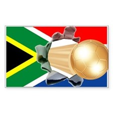 South Africa Soccer Gold Rectangle Decal