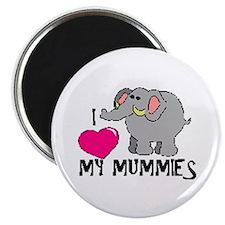 I Love My Mummies Elephant Magnet