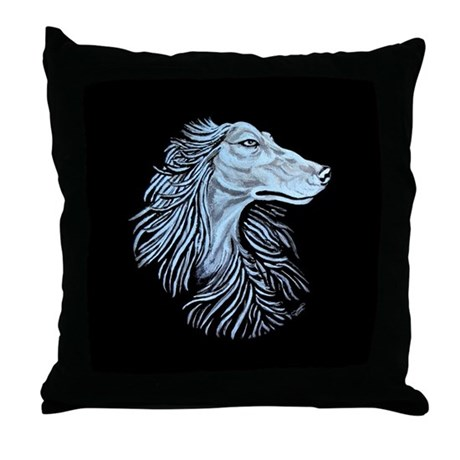 Afghan Hound Oasis Throw Pillow