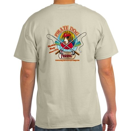 Ernest The Fishing Pirate Dog Light T-Shirt
