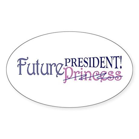 Future Princess Oval Sticker