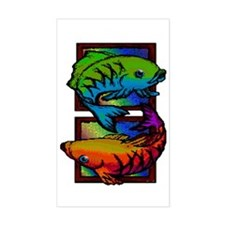 Chisling Fish Rectangle Decal